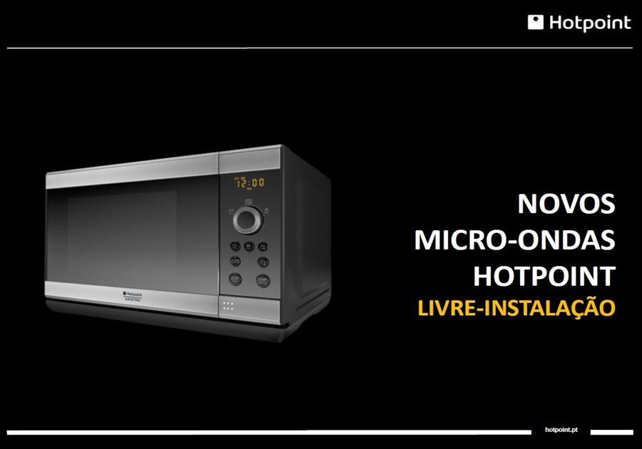 Novo micro ondas hotpoint livre instala o cimaca - Microondas de encastrar ...